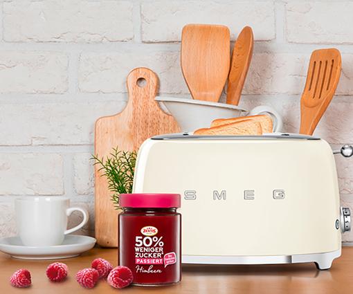 Gewinnen Sie einen SMEG Toaster inklusive einem Zentis Genusspaket! Teaser Bild